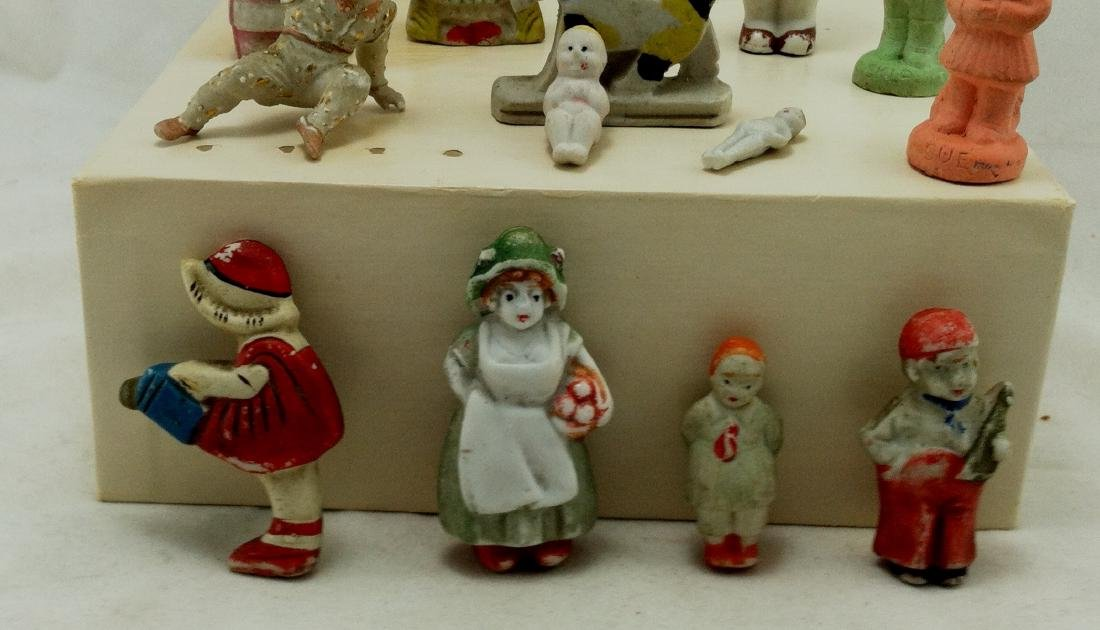 14 pc. Lot of Small Bisque Doll Figures - 5