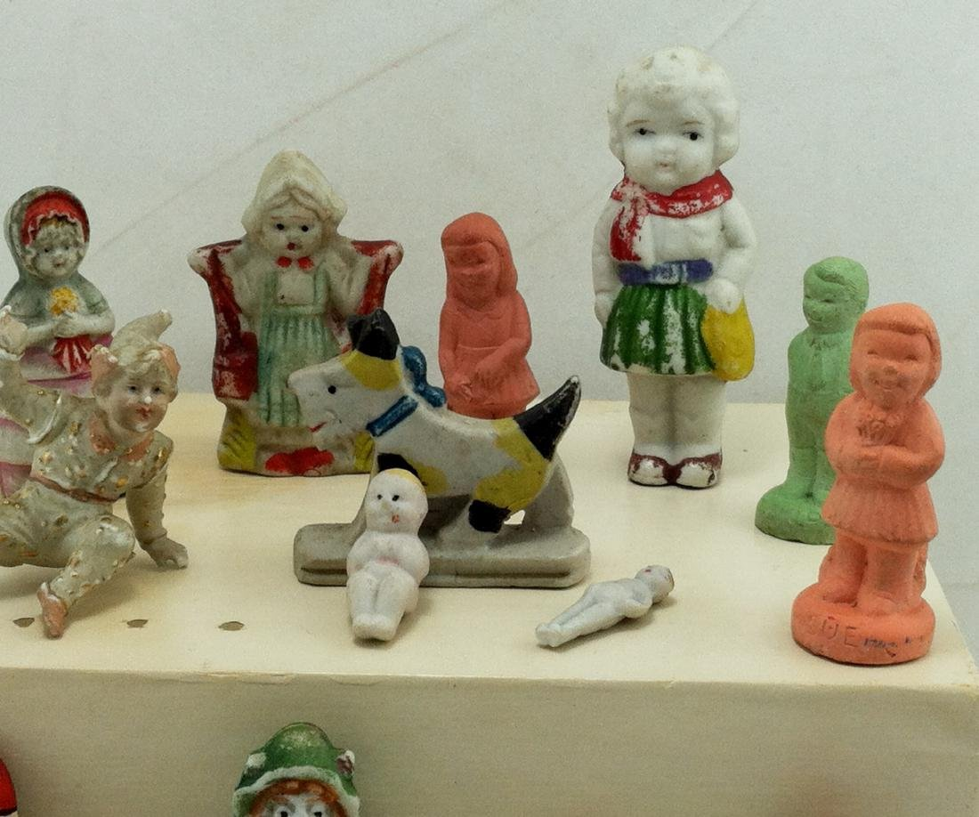 14 pc. Lot of Small Bisque Doll Figures - 7