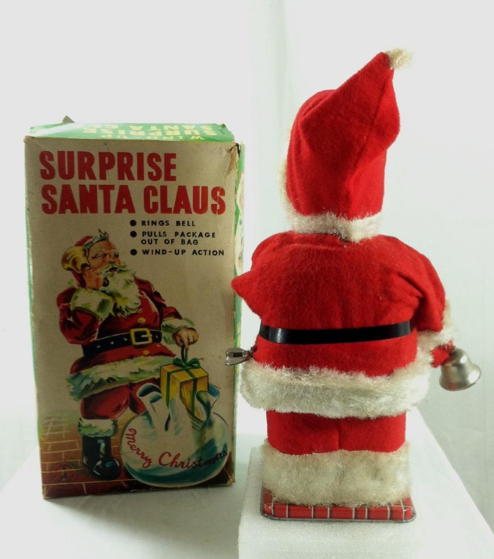 Surprise Santa Claus Wind Up in Original Box. - 4