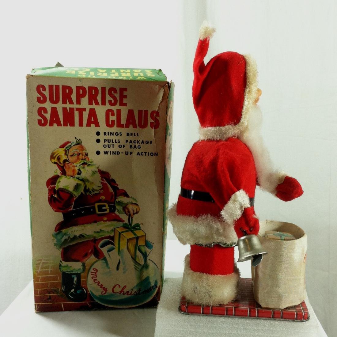 Surprise Santa Claus Wind Up in Original Box. - 5