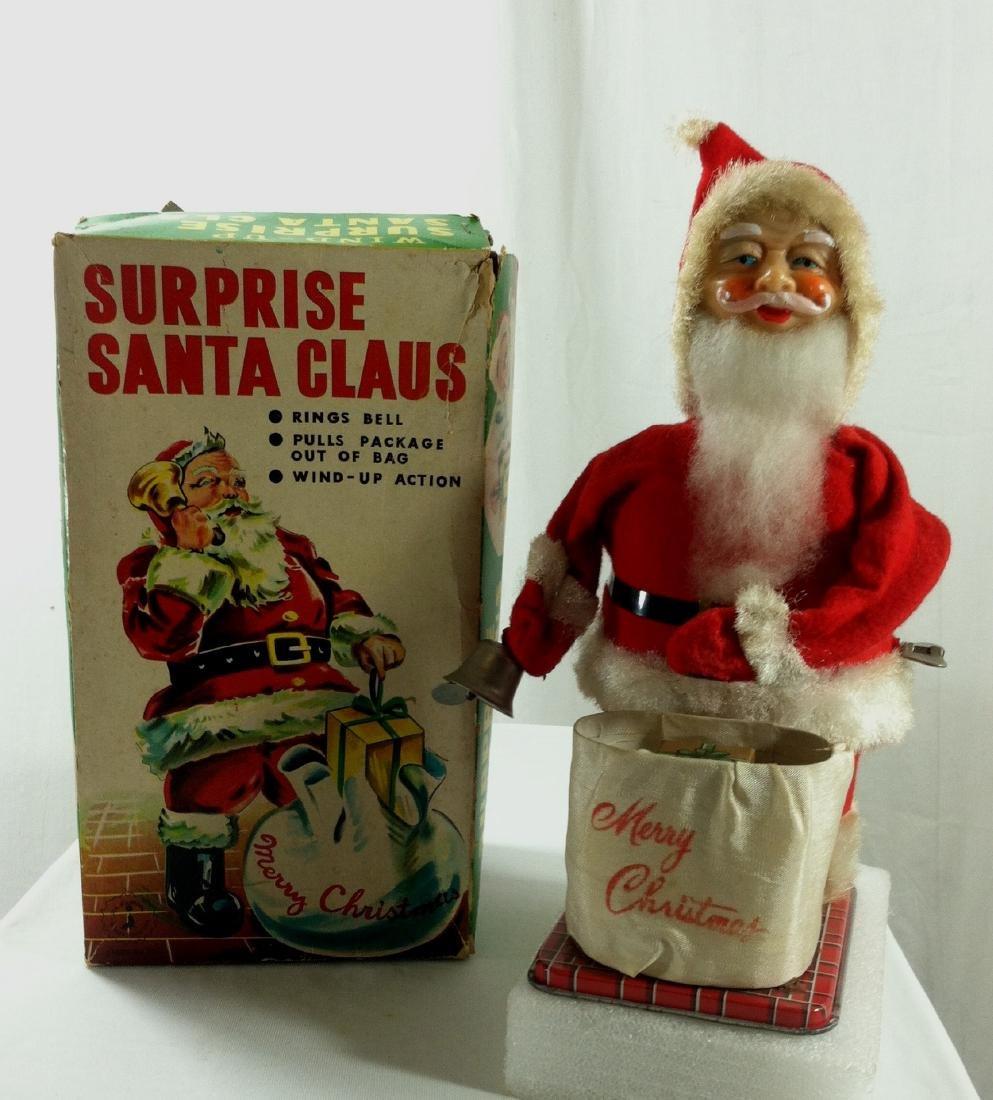 Surprise Santa Claus Wind Up in Original Box. - 8
