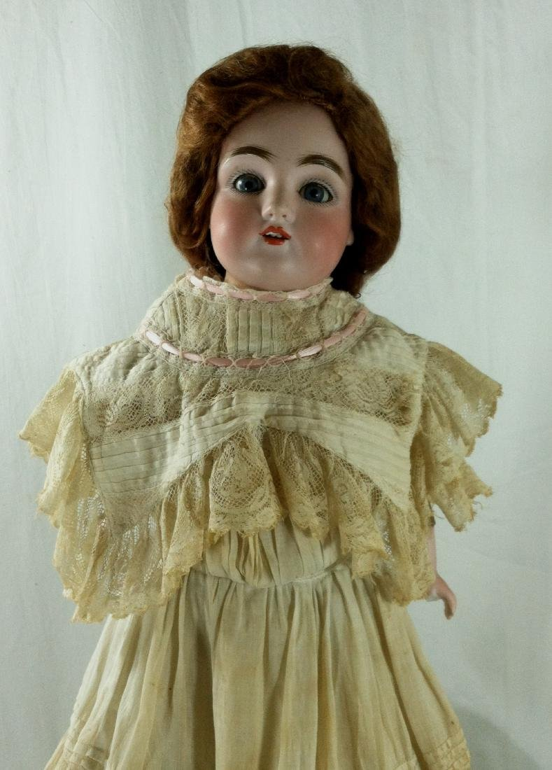 Bisque Head Doll w/ Leather Body - 7
