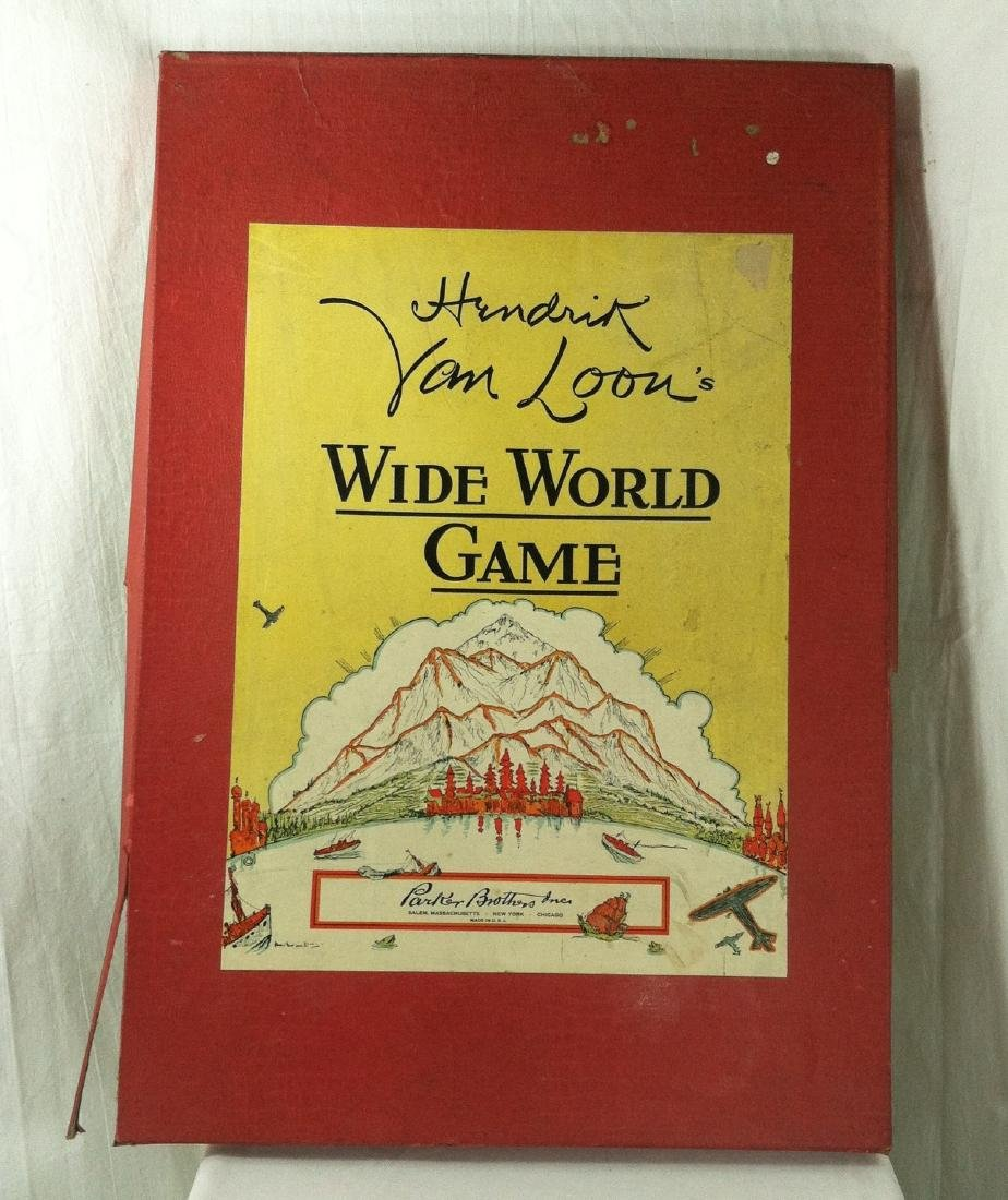 1933 Wide World Board Game from Parker