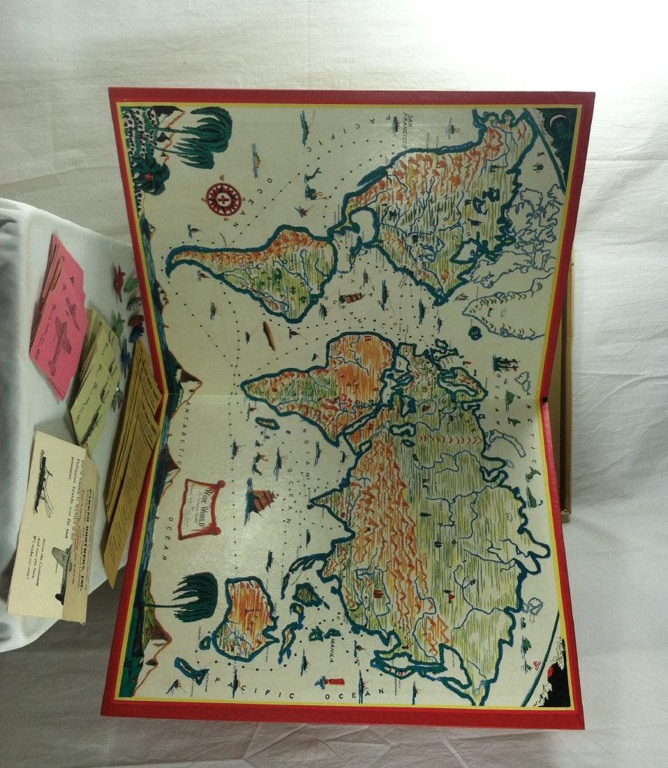 1933 Wide World Board Game from Parker - 2