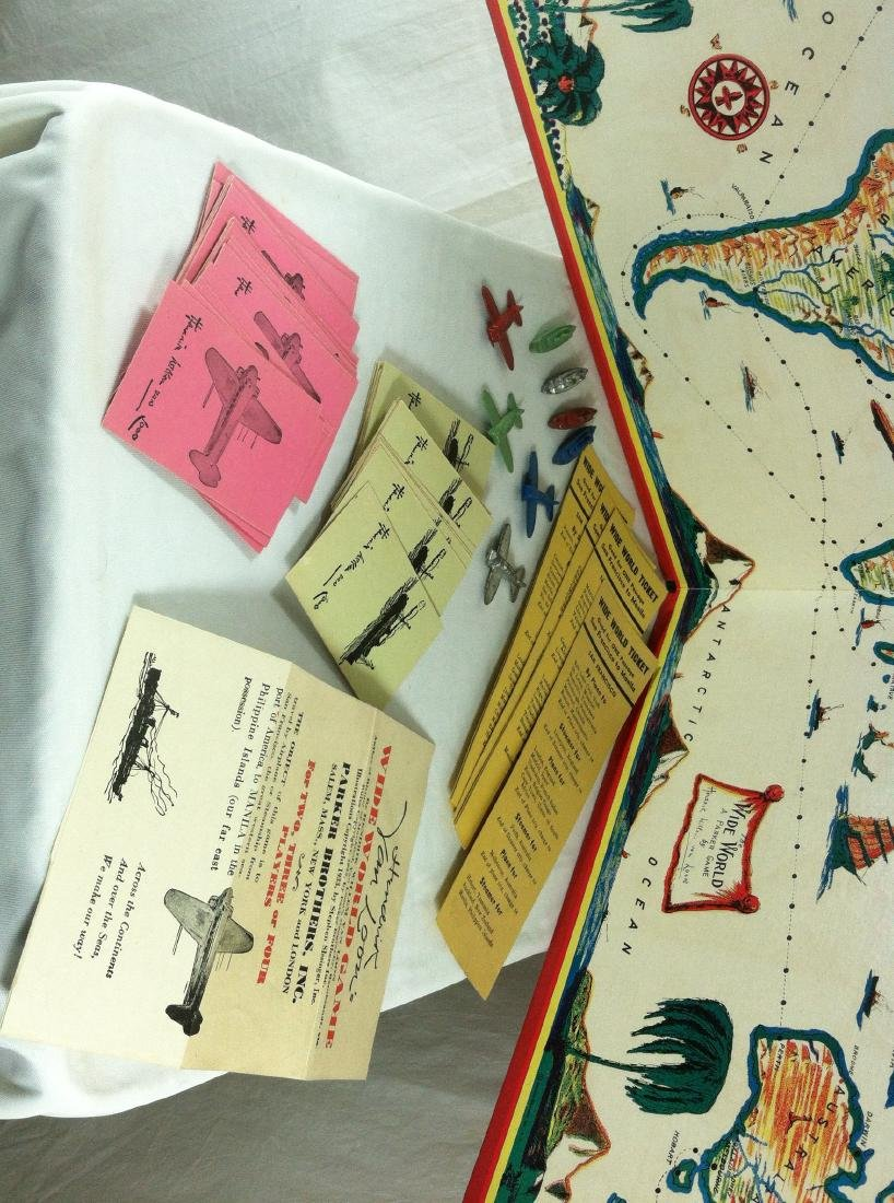 1933 Wide World Board Game from Parker - 3
