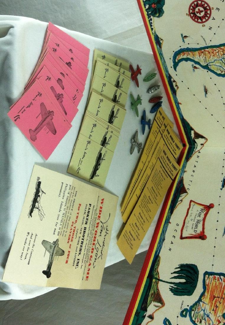1933 Wide World Board Game from Parker - 4
