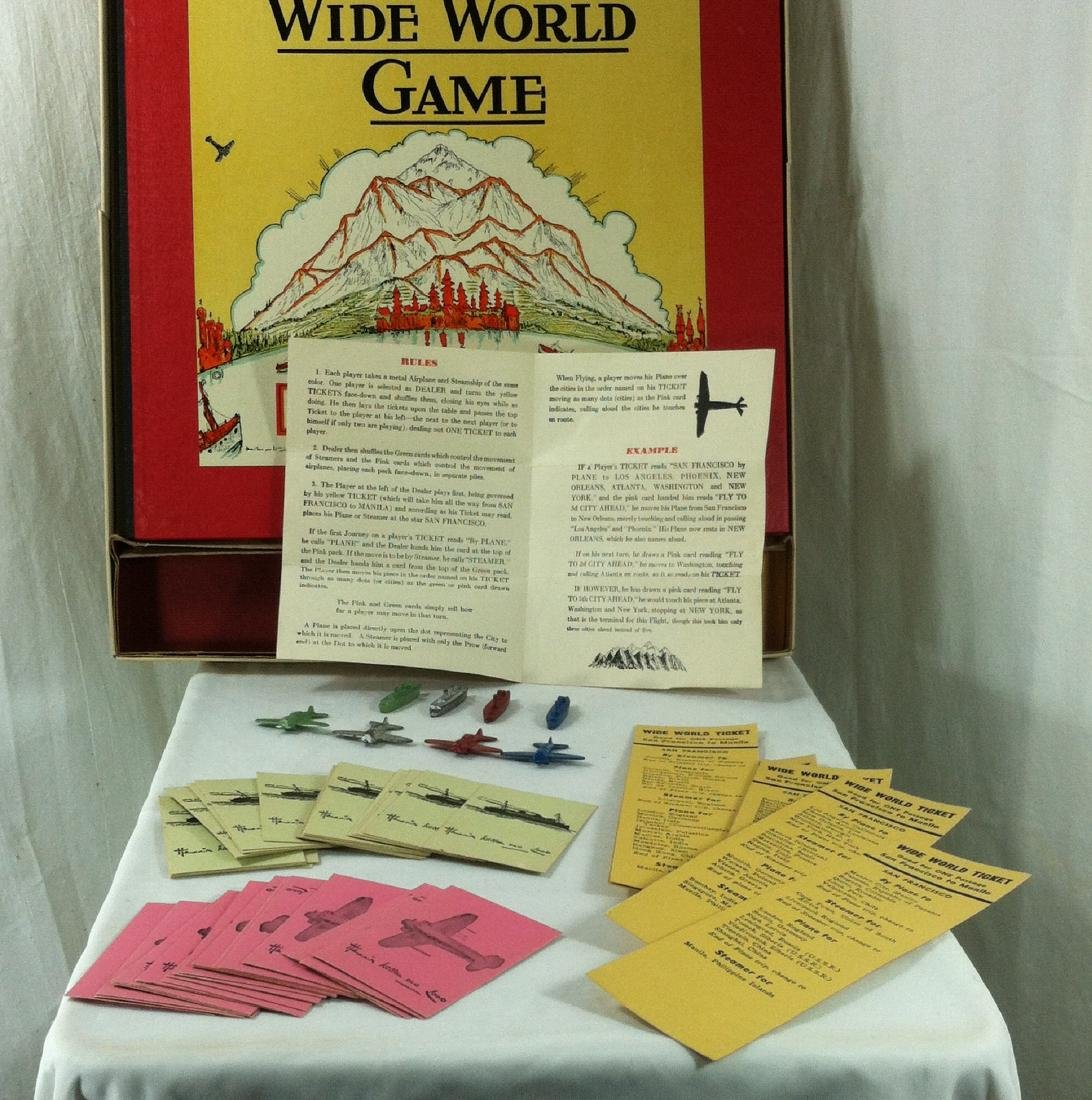 1933 Wide World Board Game from Parker - 5