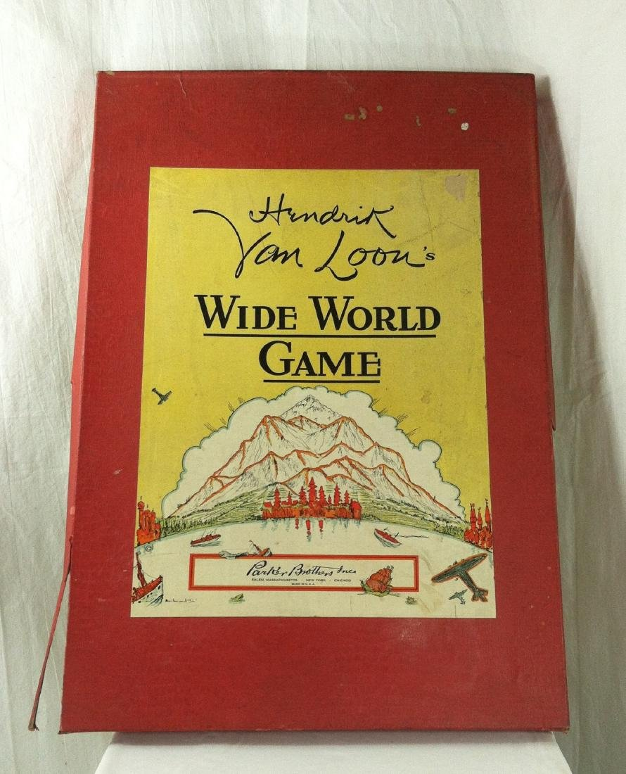 1933 Wide World Board Game from Parker - 7