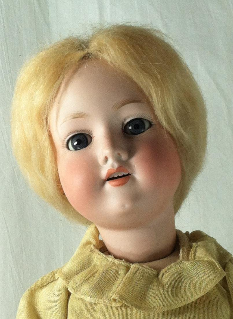 "Bisque Head A&M Doll Germany 390 22"" - 2"
