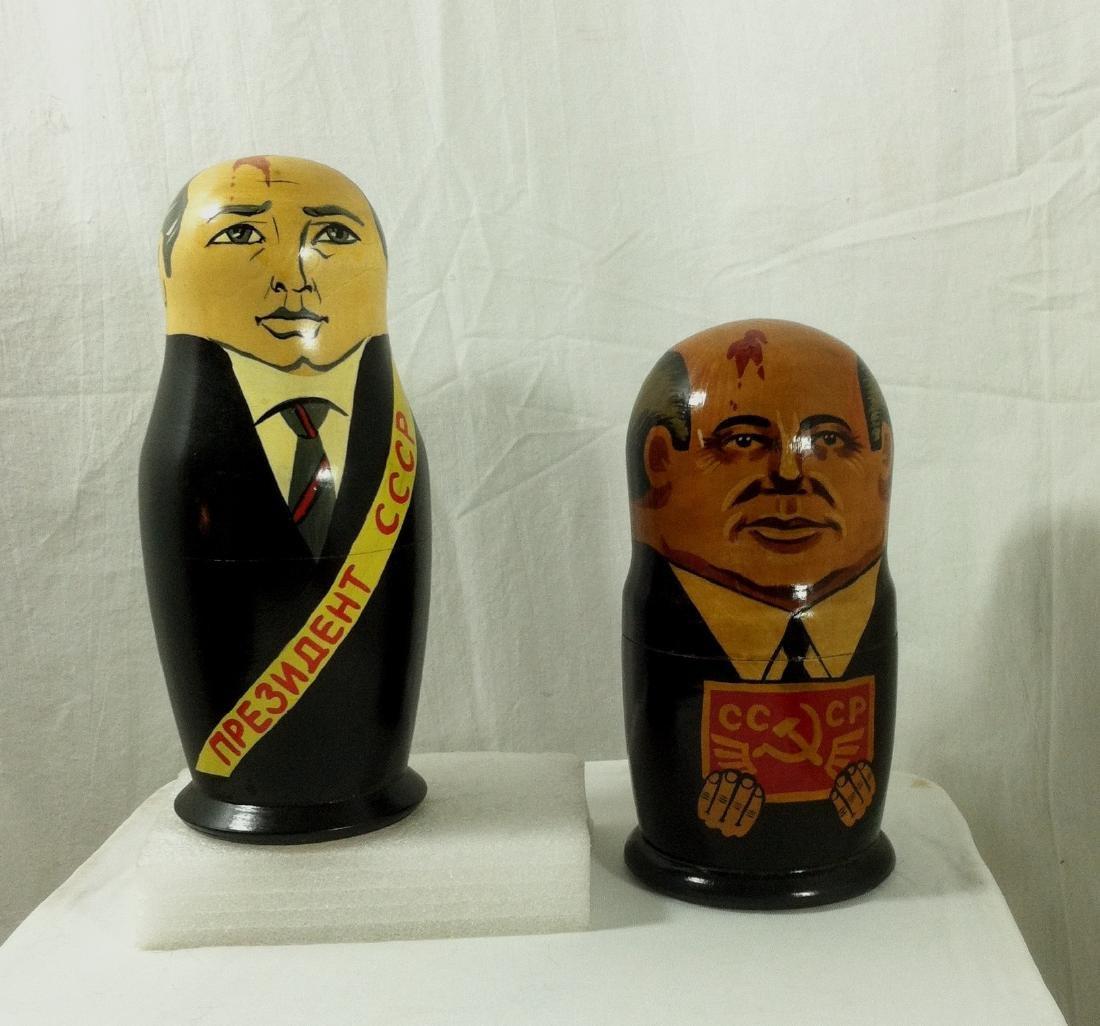 2 Sets of Russian Leaders Nesting Dolls.