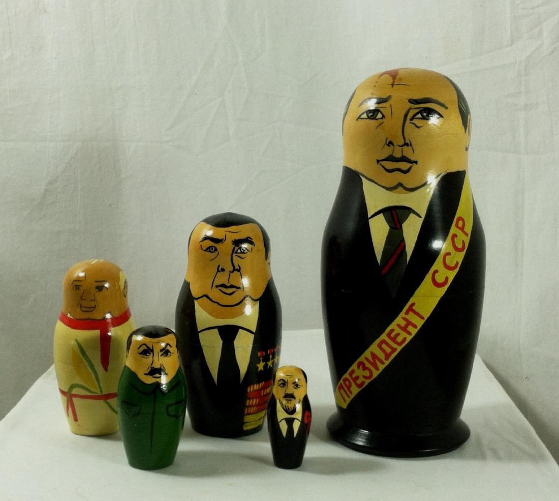 2 Sets of Russian Leaders Nesting Dolls. - 5