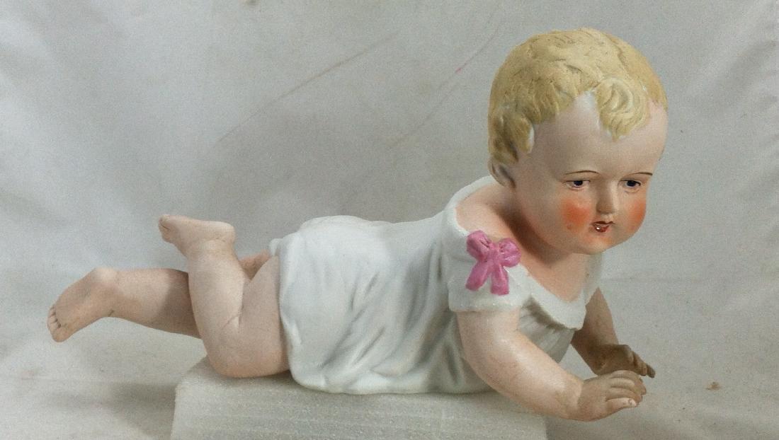 Big Antique Bisque Boy Piano Baby