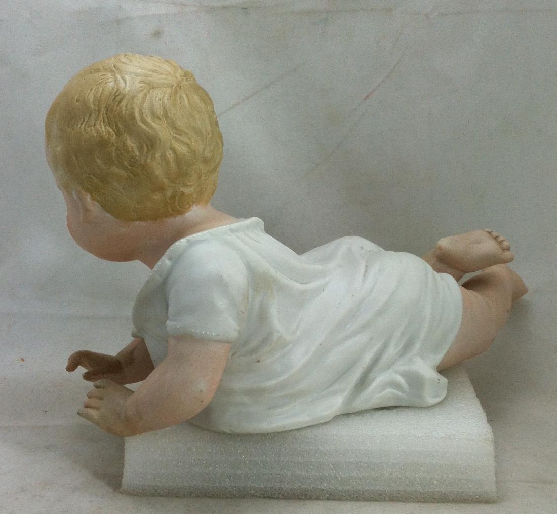 Big Antique Bisque Boy Piano Baby - 3