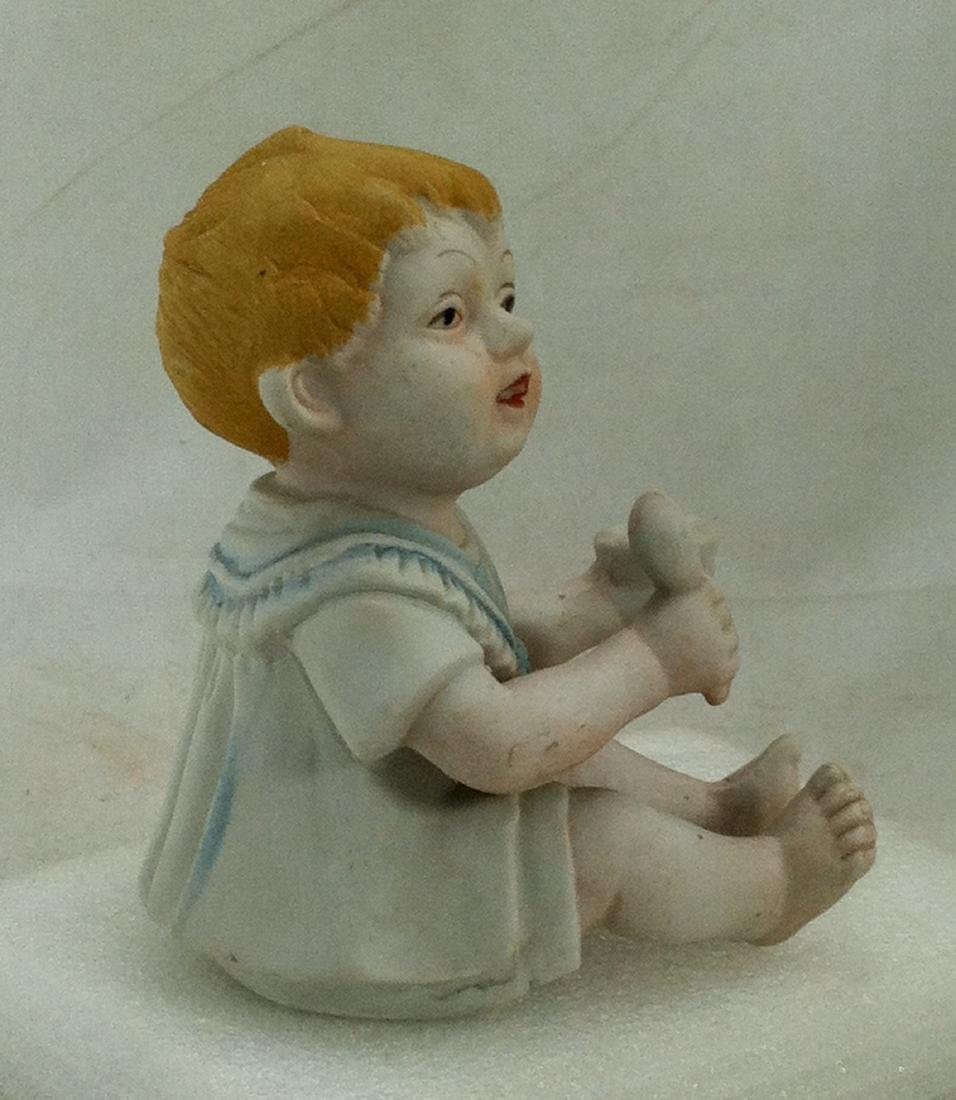 Bisuqe Red-Headed Baby Boy Figurine - 4