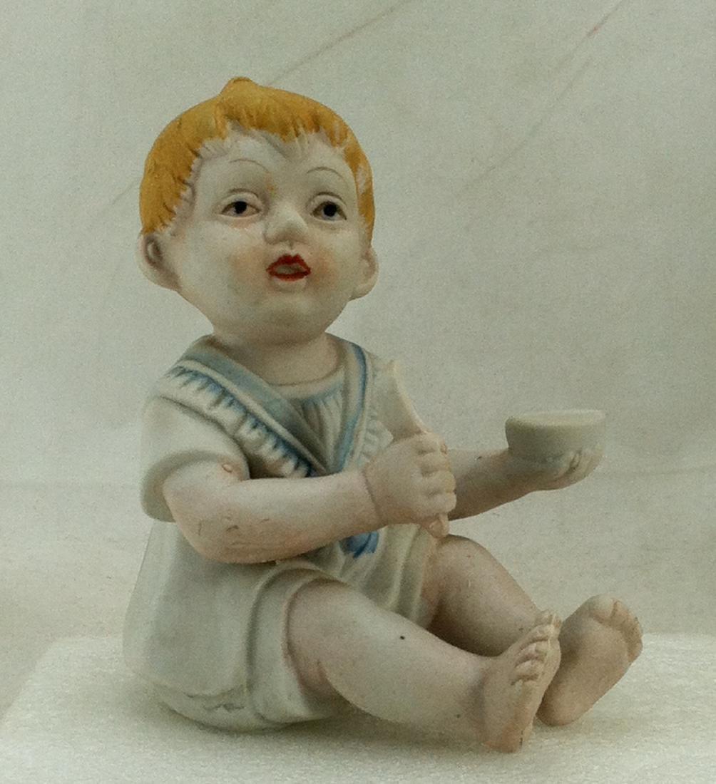 Bisuqe Red-Headed Baby Boy Figurine - 6