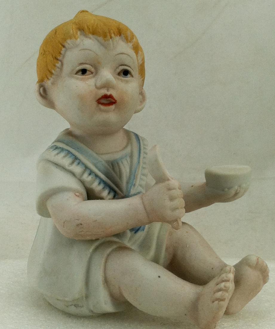 Bisuqe Red-Headed Baby Boy Figurine - 7