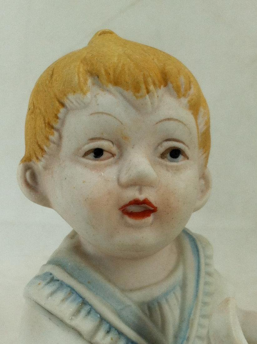 Bisuqe Red-Headed Baby Boy Figurine - 8