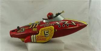 Original Wind up Flash Gordon Rocket Fighter