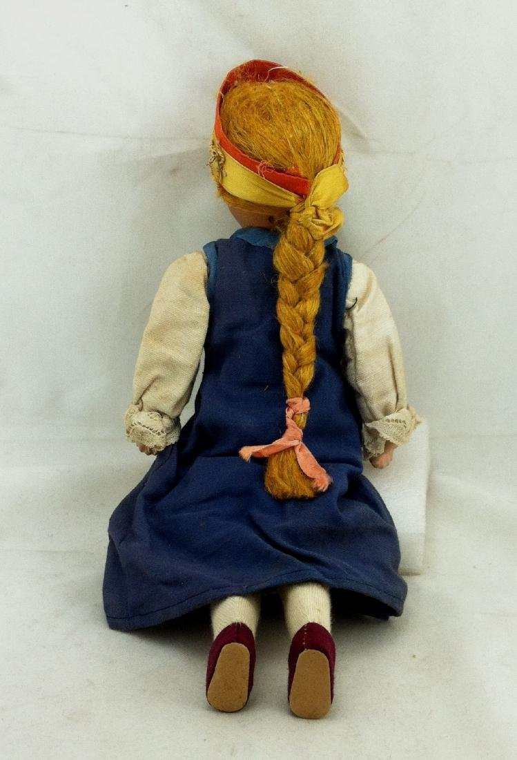 "Antique 12"" All Bisque Costume Doll - 7"