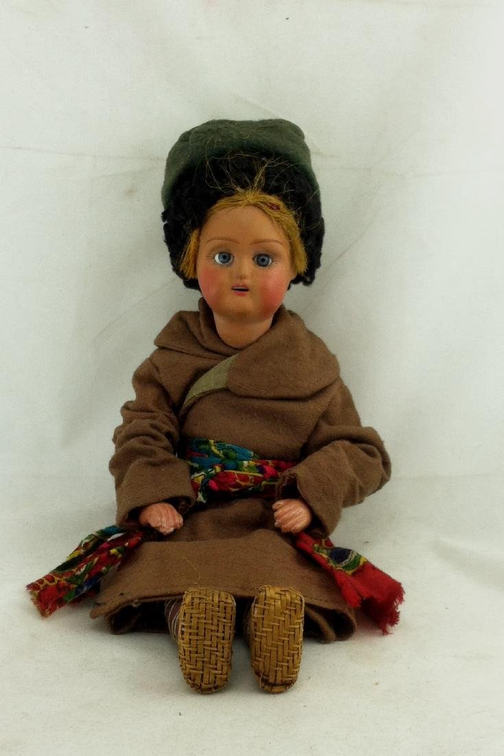 Antique all Bisque Costume Doll East Europe?
