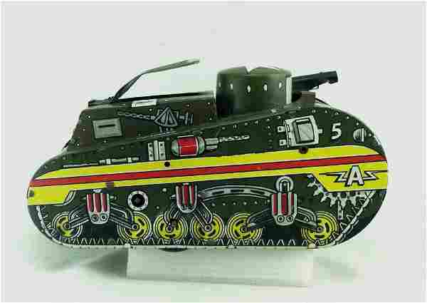Pressed Steel & Litho A5 Windup Tank by Marx