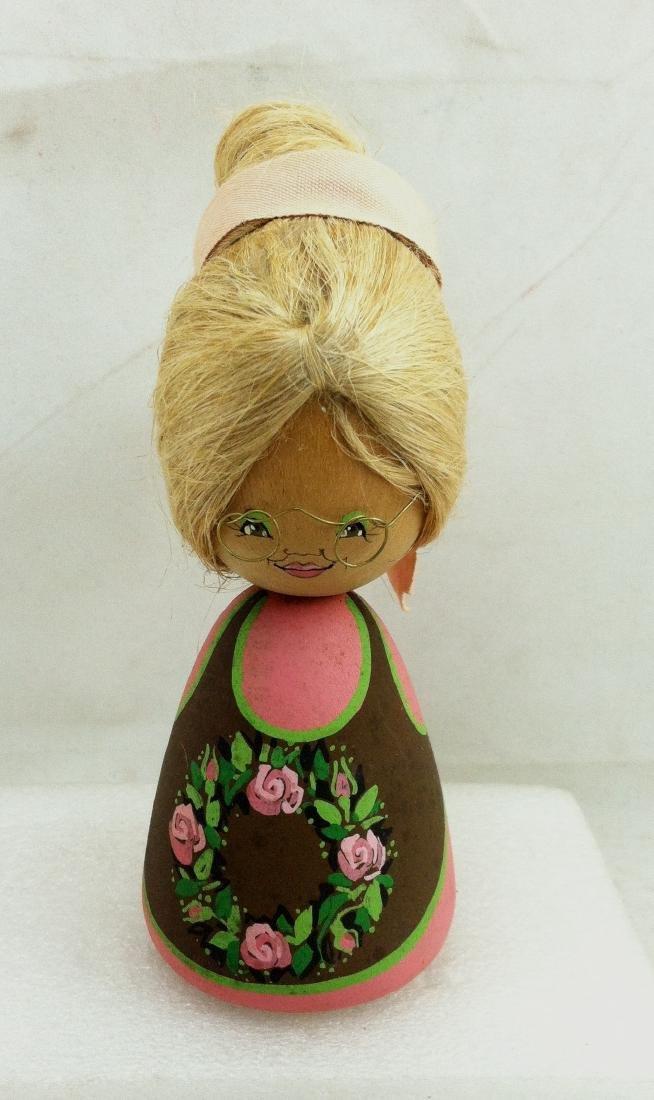 3pc. Lot of Vtg. Wood Dolls - 3