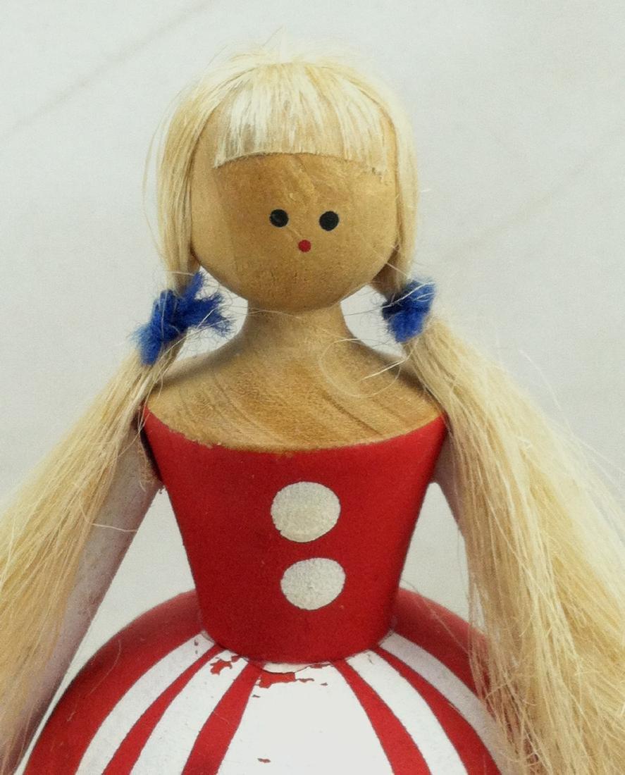 3pc. Lot of Vtg. Wood Dolls - 6