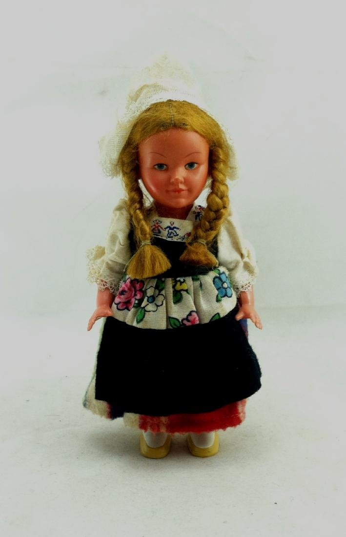 Older European Costume Wind-Up Spinner Doll