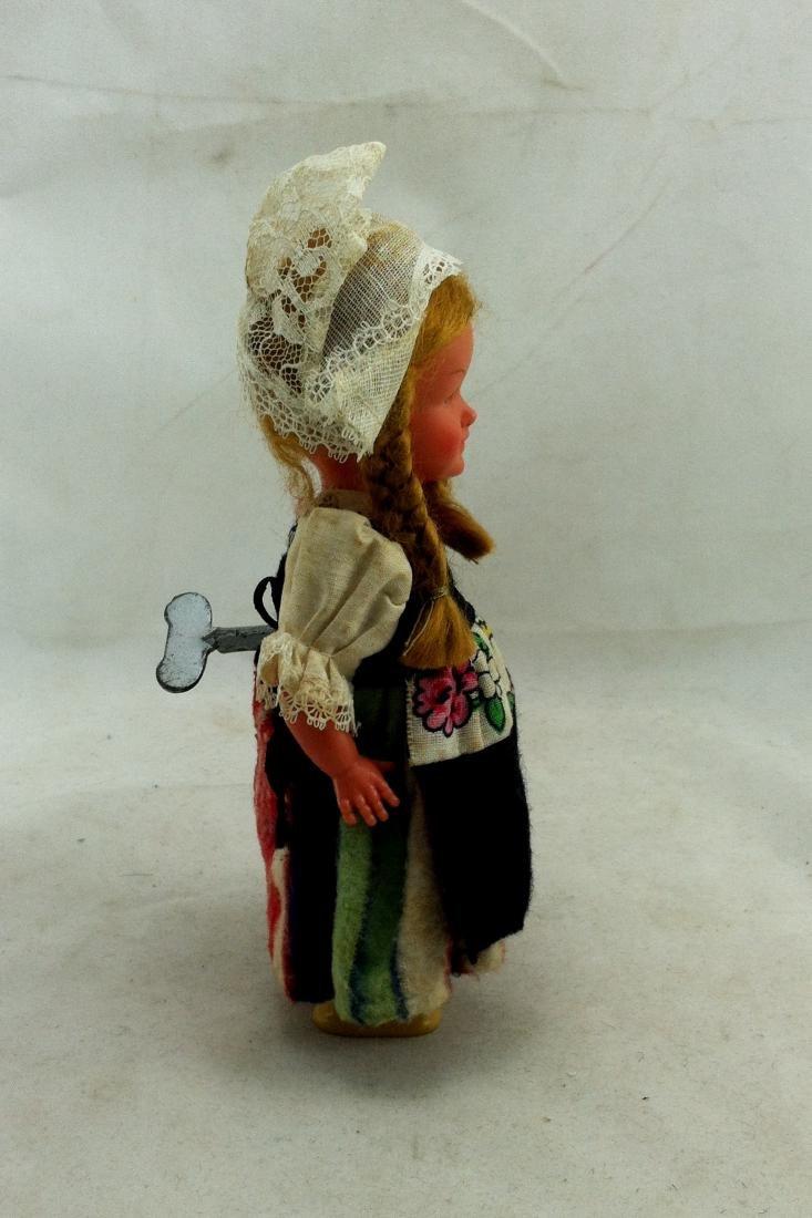 Older European Costume Wind-Up Spinner Doll - 3