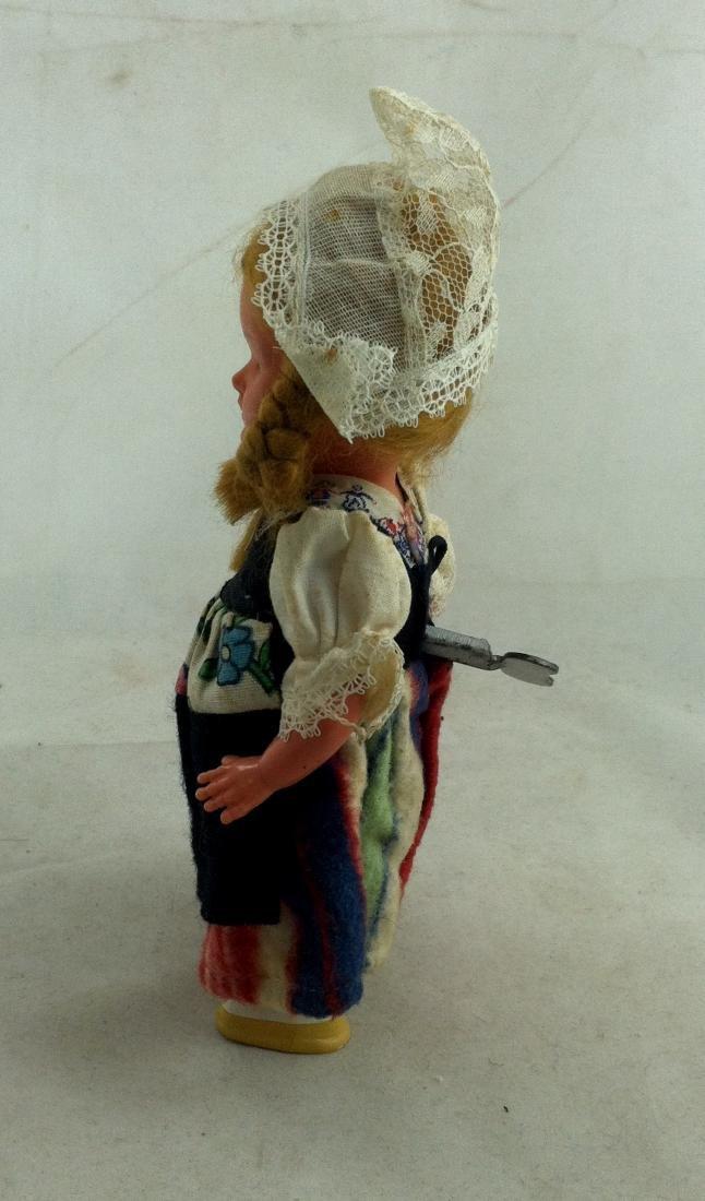 Older European Costume Wind-Up Spinner Doll - 4