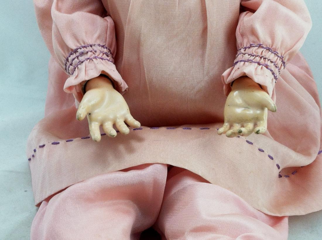 """Antique 20"""" Bisque Head Handwerck Doll - 5"""