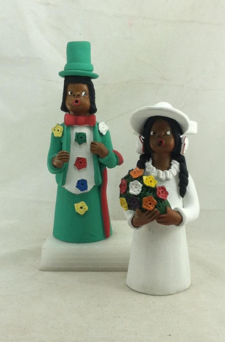 Wedding Couple Dolls by Manuel Eudoicio of Brazil