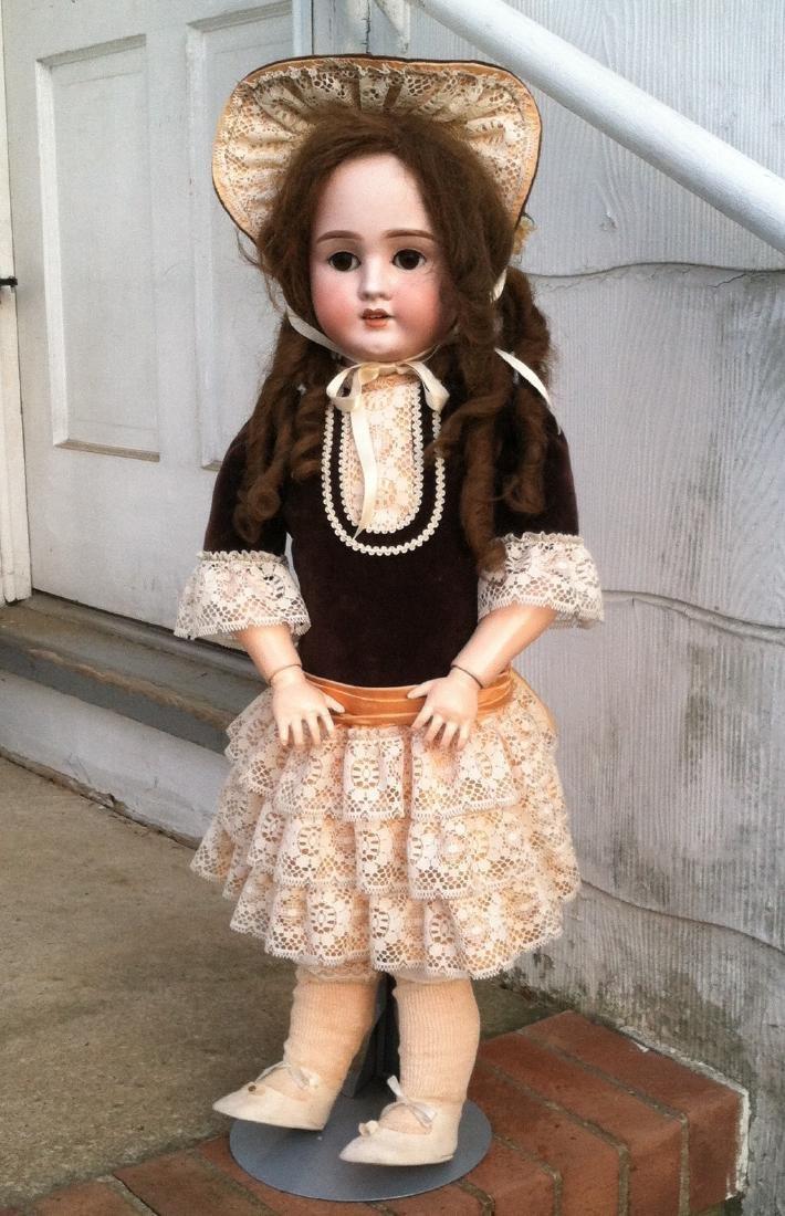 """Bisque Head Doll Schoenau & Hoffmeister 28"""" h."""