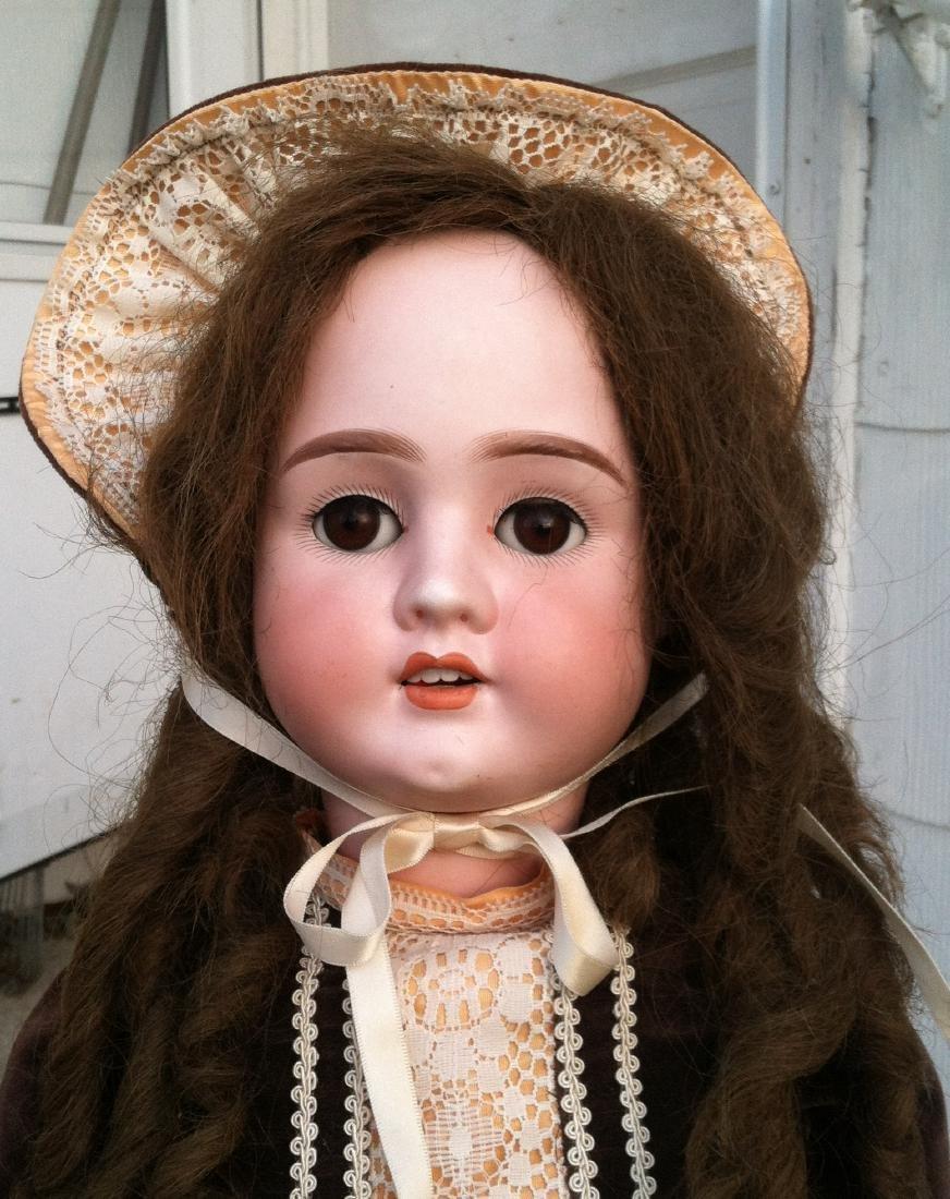 """Bisque Head Doll Schoenau & Hoffmeister 28"""" h. - 3"""