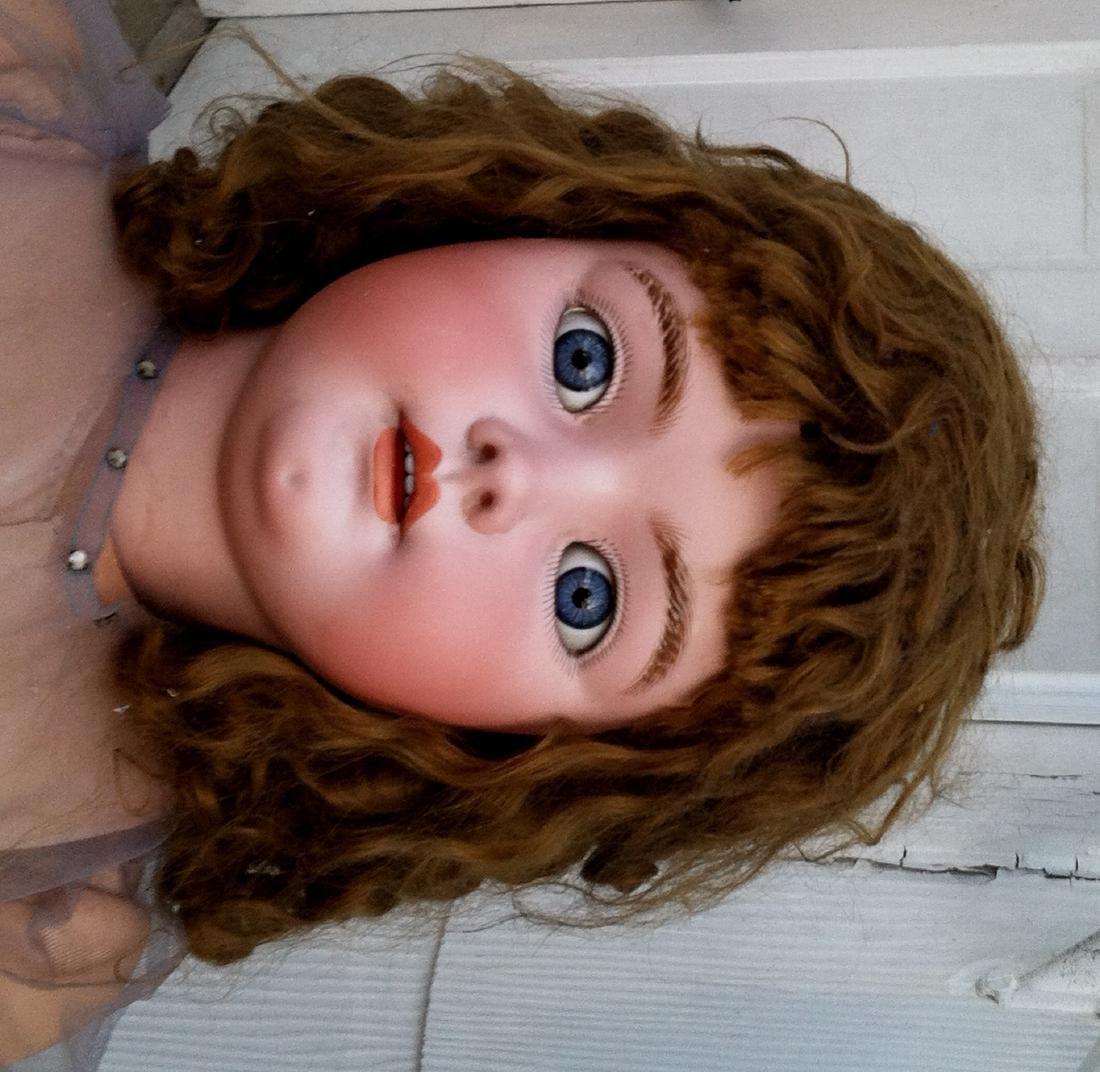 "Huge Bisque Head Doll Only Marked Handwerck 36"" - 2"