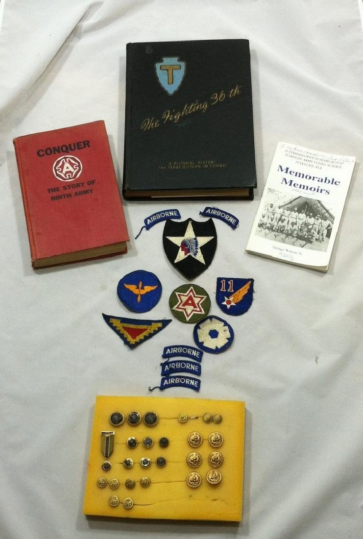 Lot WW2 Militaria Books/Booklets & Insignia