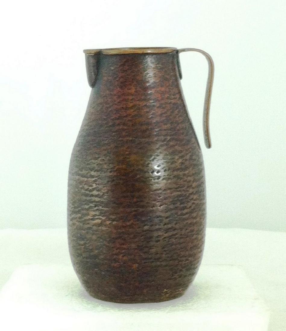 Antique Hammered Copper Pitcher - Japan
