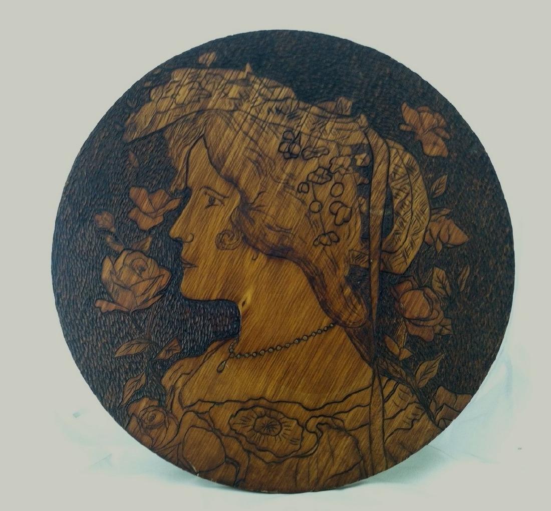 Fine Pyro Art Portrait of a Beautiful Woman