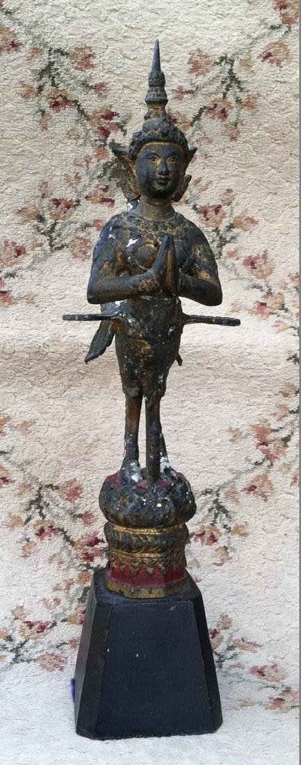 Asian Bronze Winged Deity  Siamese