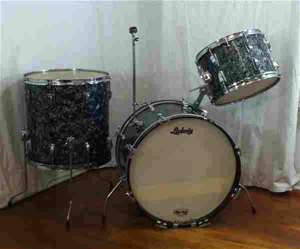 Ludwig Black Diamond Pearl 3pc. Drum Kit 1967