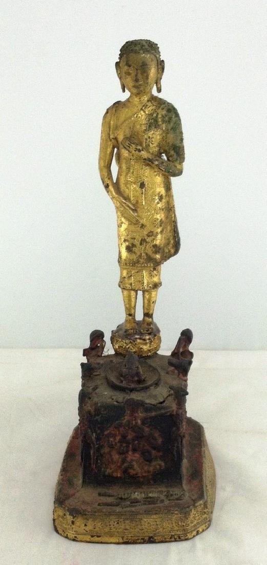 Antique Asian Bronze  Ceremonial Statue