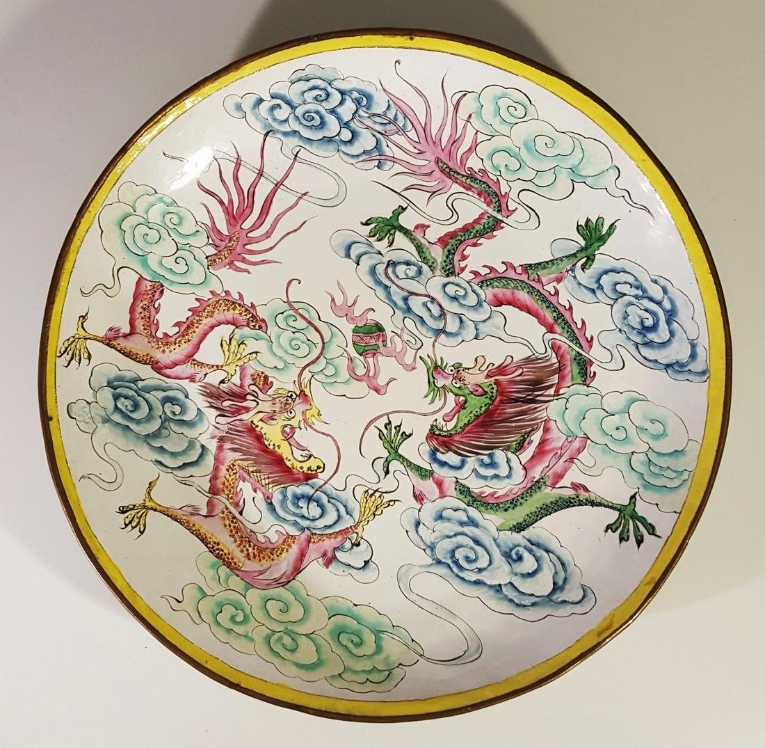 """Chinese Dragon Charger Plate 12"""""""