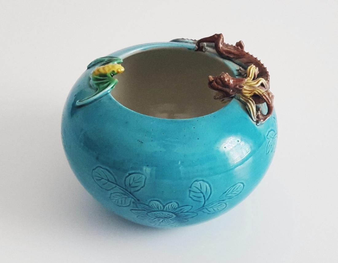 Chinese Dragon Brush Pot Vase