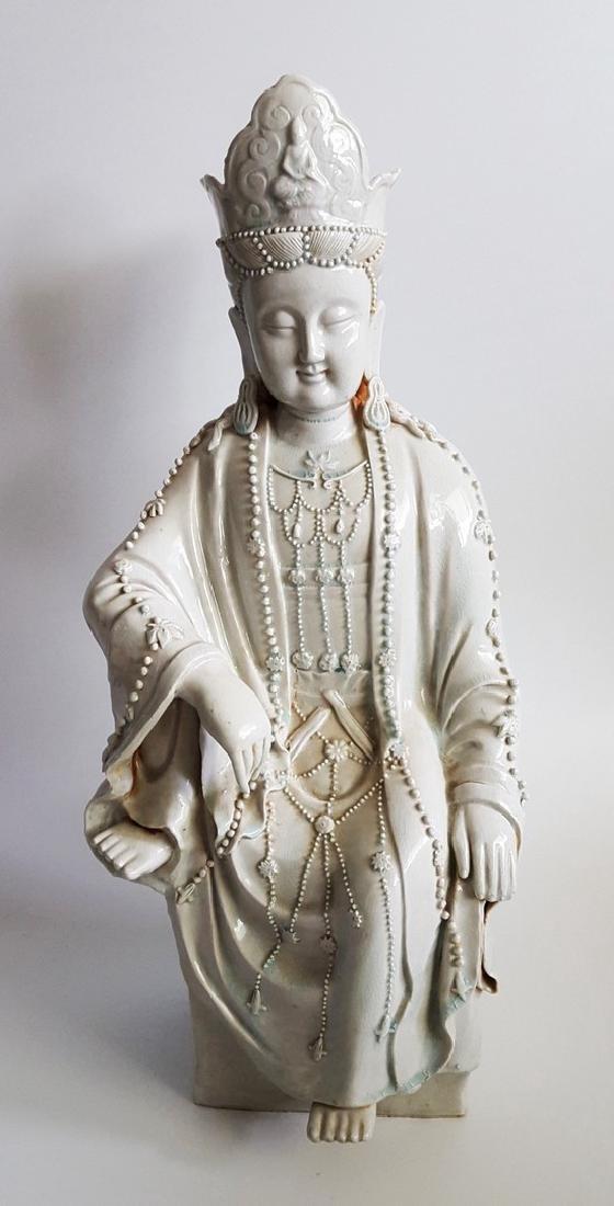 "Chinese Guanyin Figure Statue 28"""