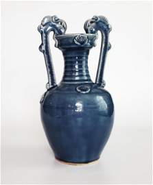"Chinese Double-Dragon Amphora Vase 14"""