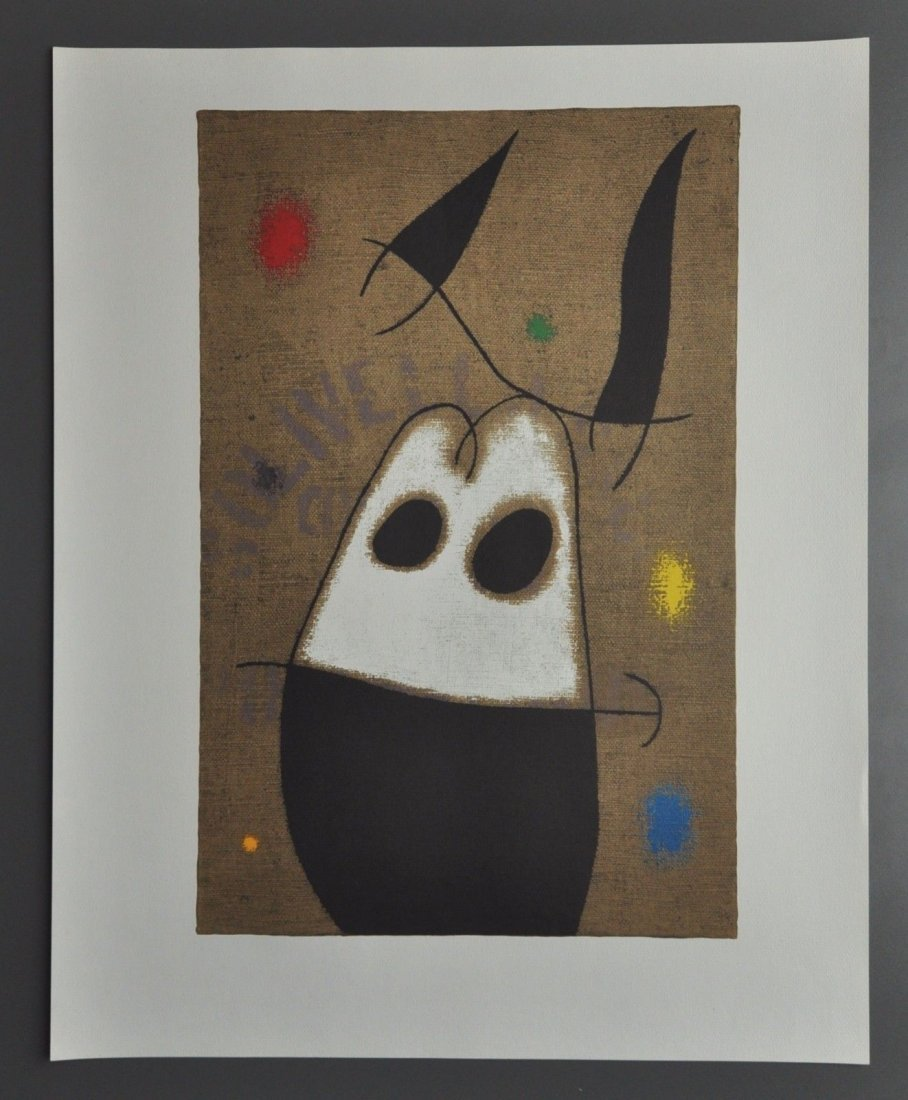 Joan Miro Lithograph Femme et Oiseau, 1960
