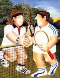 """BERYL COOK """"Tennis"""" Original Serigraph"""