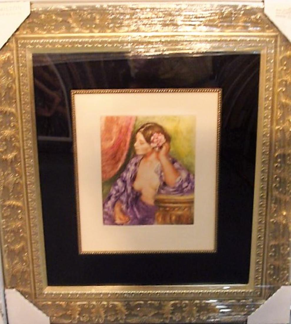 """Renoir """"Woman with Rose"""" Etching"""