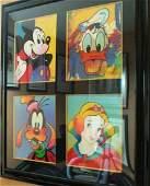 PETER MAX  Disney Suite (4 pieces) silkscreen