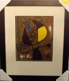 """Joan Miro """"Femme et Ouiso"""""""